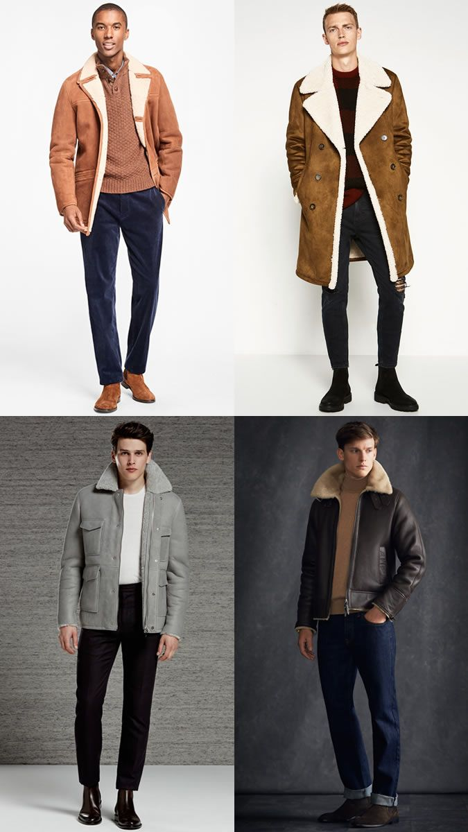 Men's Shearling Jackets and Coats Outfit Inspiration Lookbook for ...