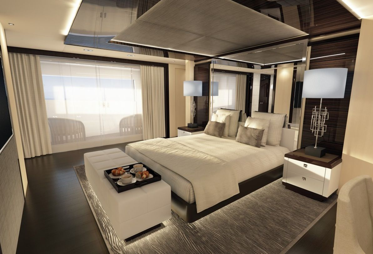 offers up a different feel altogether in this serene yacht interior & Luxury Yacht Interior Design | yachts living | Luxury yacht interior ...