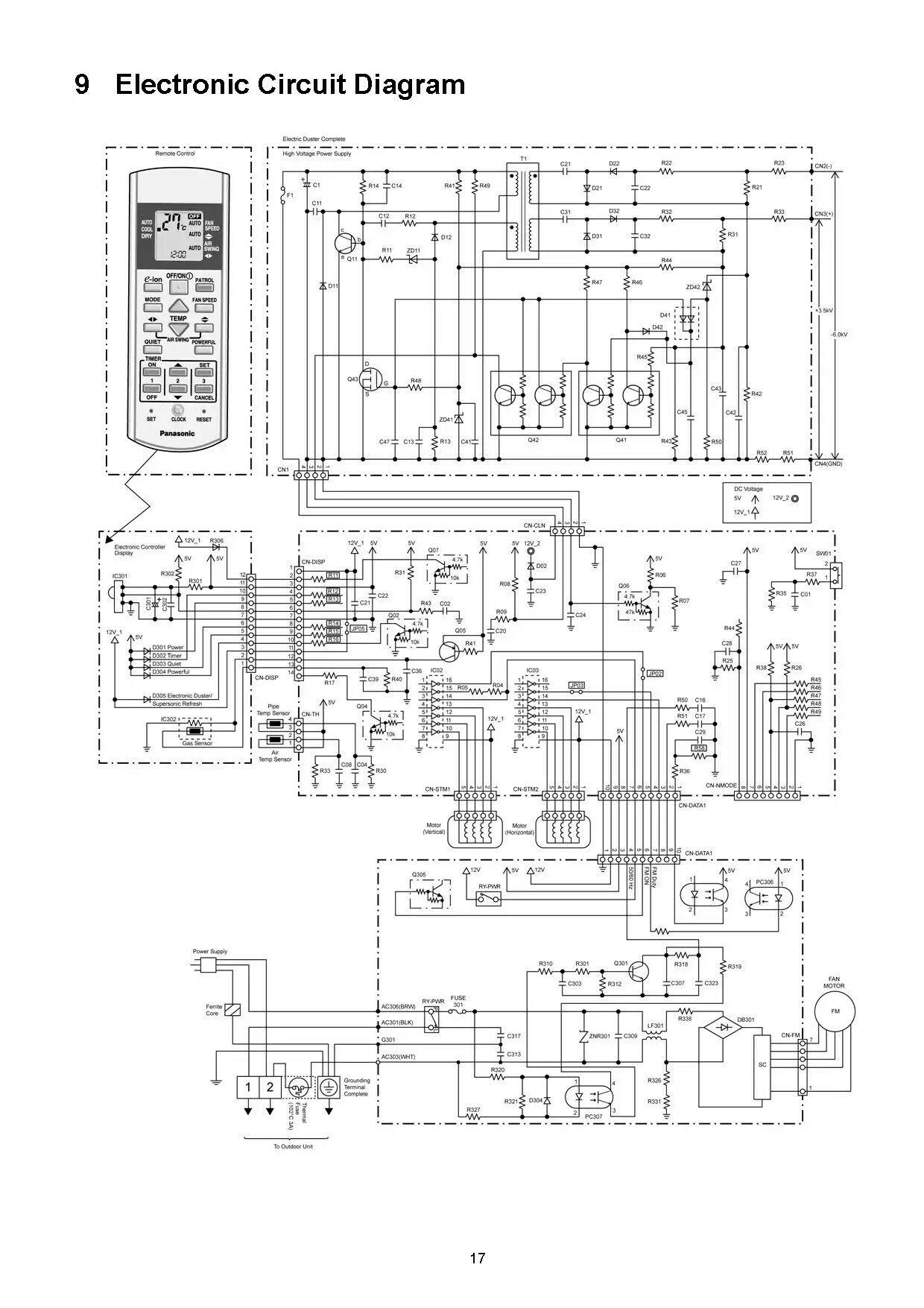 Diagrama Electrico De Tarjeta Para A A Panasonic Circuit Diagram Electronics Circuit Diagram