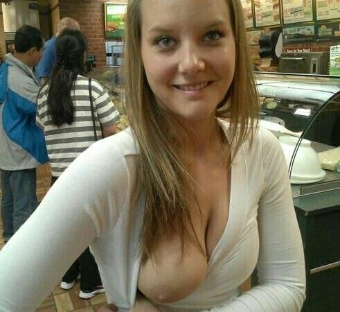 public boobs flash