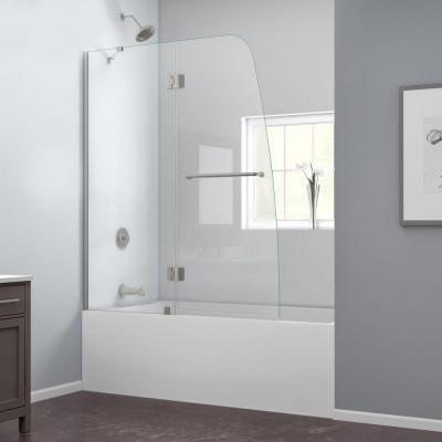 DreamLine Aqua 48 In. X 58 In. Frameless Pivot Tub/Shower Door In