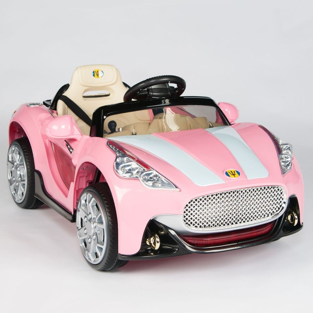maserati style 12v kids ride on car electric powered wheels remote control pink bambini