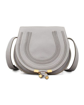 2e637e8111 Marcie Mini Saddle Bag, Gray by Chloe at Neiman Marcus. | Fashion ...