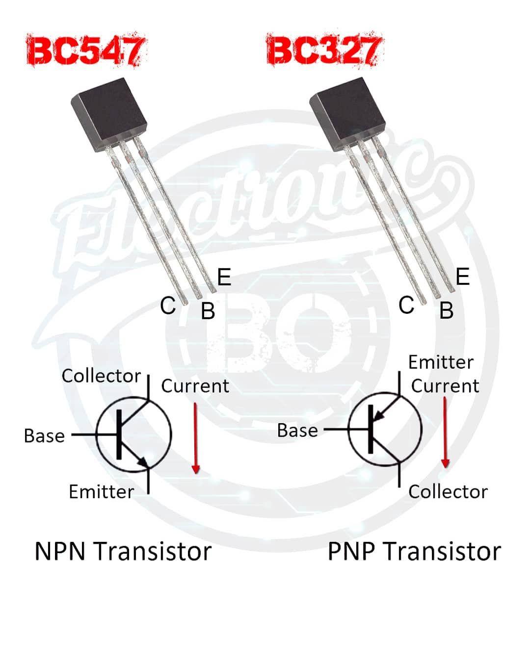 Npn And Pnp Transistor I Love My Followers