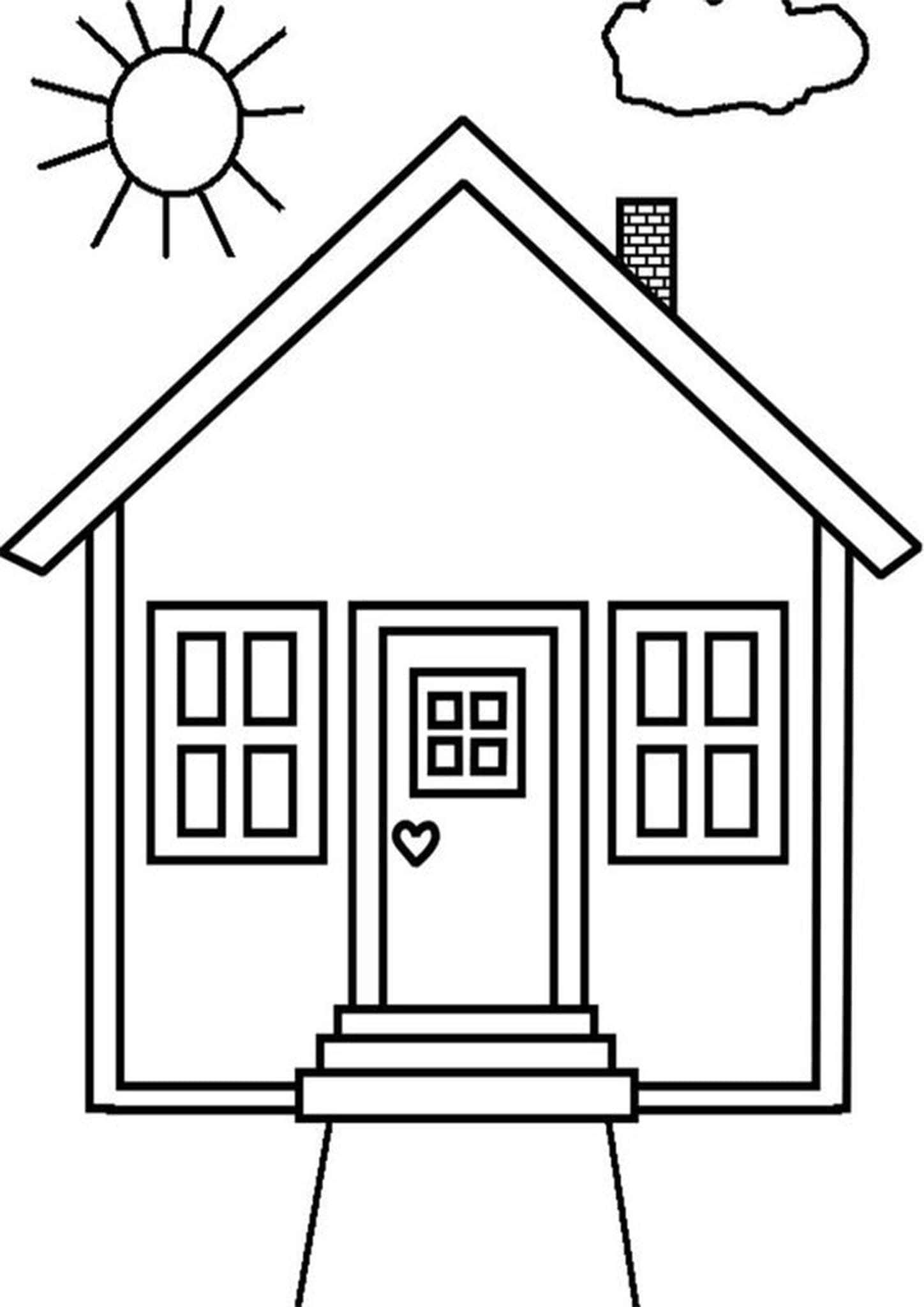 Free Easy To Print House Coloring Pages House Colouring Pages Coloring Pages Free Printable Coloring Pages