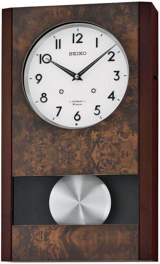 Seiko Wall Clock With Pendulum Brown Qxm359blh Pendulum Wall Clock Wall Clock Clock