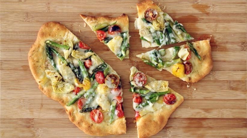 Rustic Springtime Vegetable Pizza Recipe