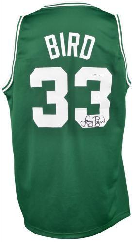 184c57606 Larry Bird Boston Celtics Autographed Green Authentic Mitchell and ...