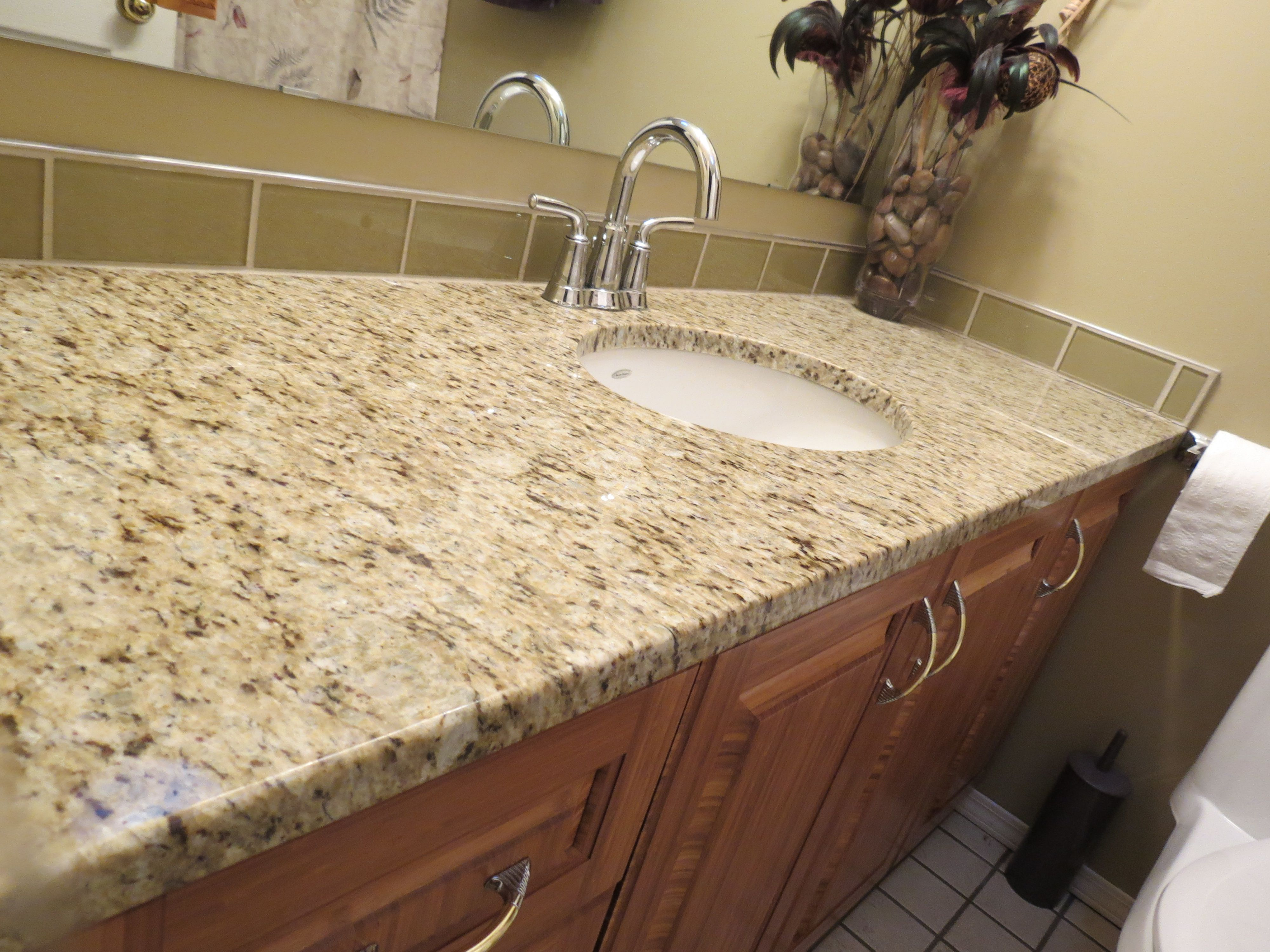 Giallo Ornamental Granite Countertop   Our Master Bath Granite.  BadeværelsesideerBadeværelsesrenovering