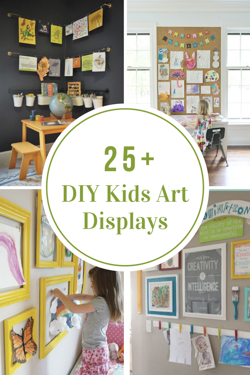 DIY Kids Art Displays | Pinterest | Clutter, Display and Playrooms