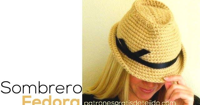 Cómo tejer Sombrero Fedora Unisex / Tutorial crochet | Patrones ...
