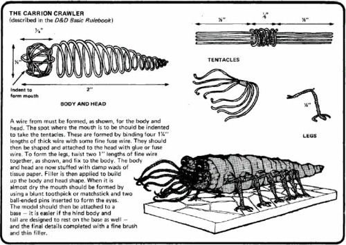 """oldschoolfrp: """" Make your own carrion crawler from thin pliable ..."""