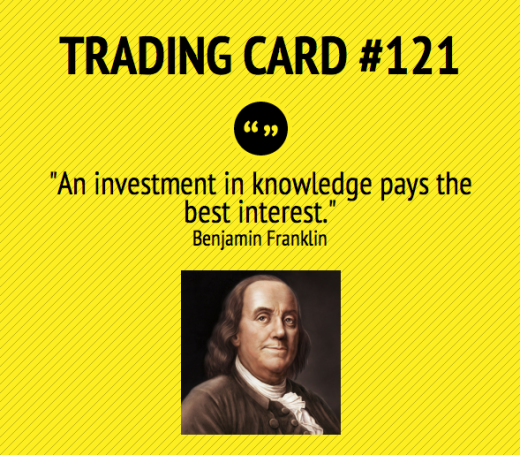 Trading Card 121 Investing In Knowledge Trading quotes