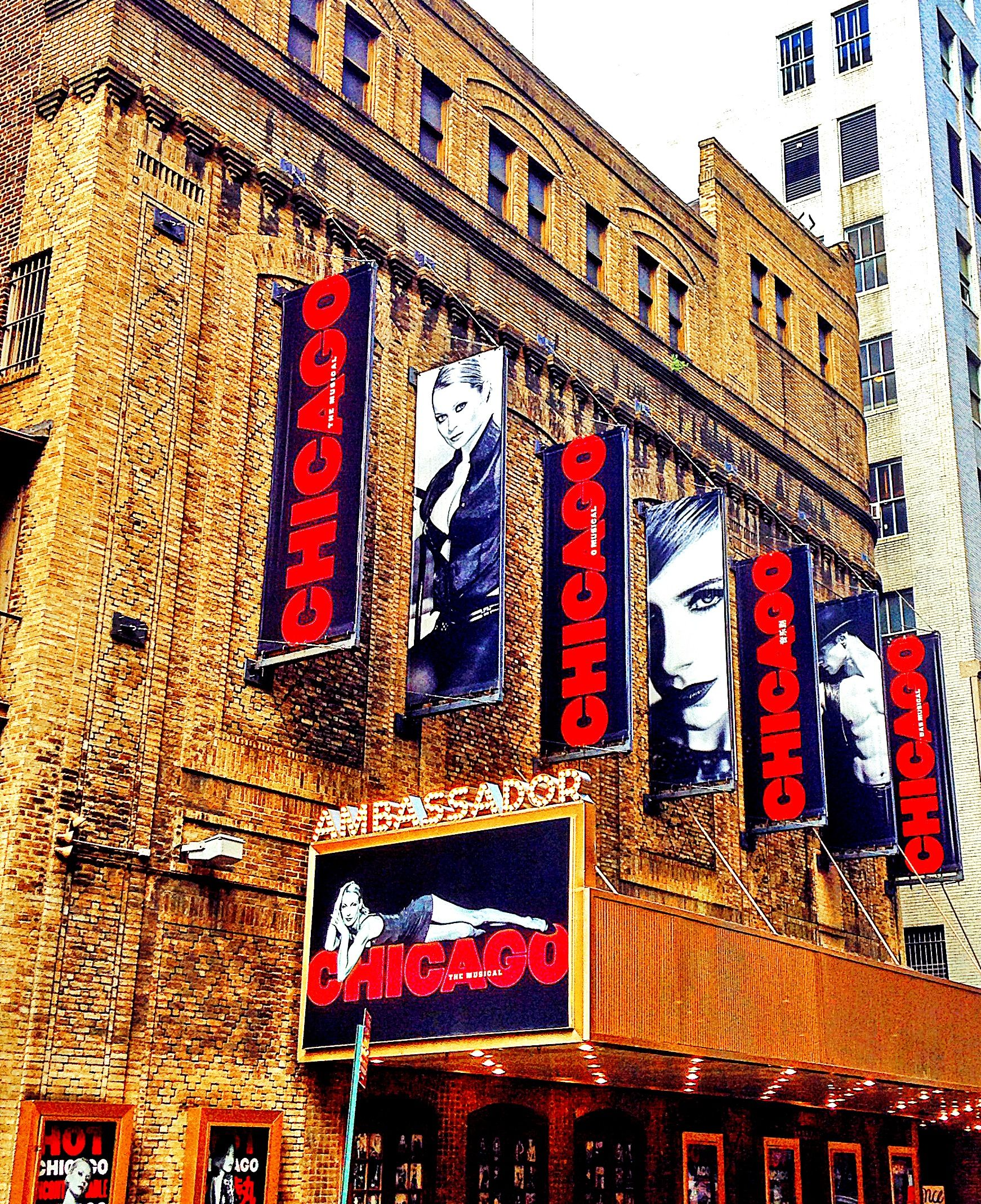 Chicago At The Ambassador Chicago Broadway Newyork Marquee Theatre Theater Broadwaylights Greatwhiteway Stage Theatree Movie Marquee Broadway Chicago