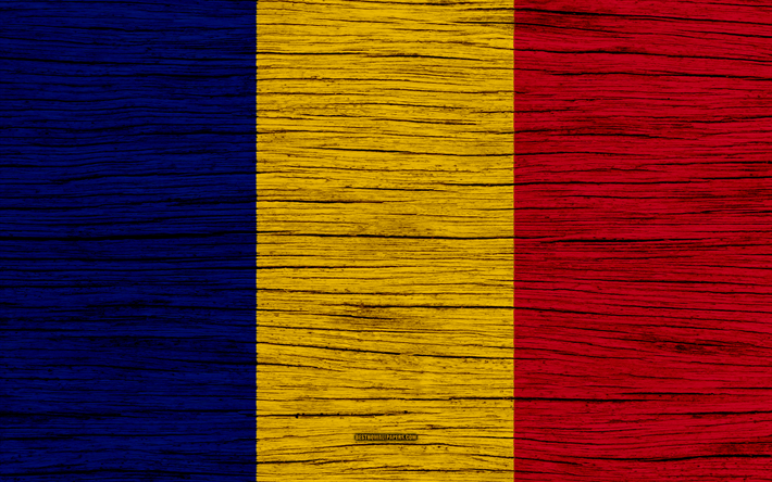Download Wallpapers Flag Of Romania 4k Europe Wooden