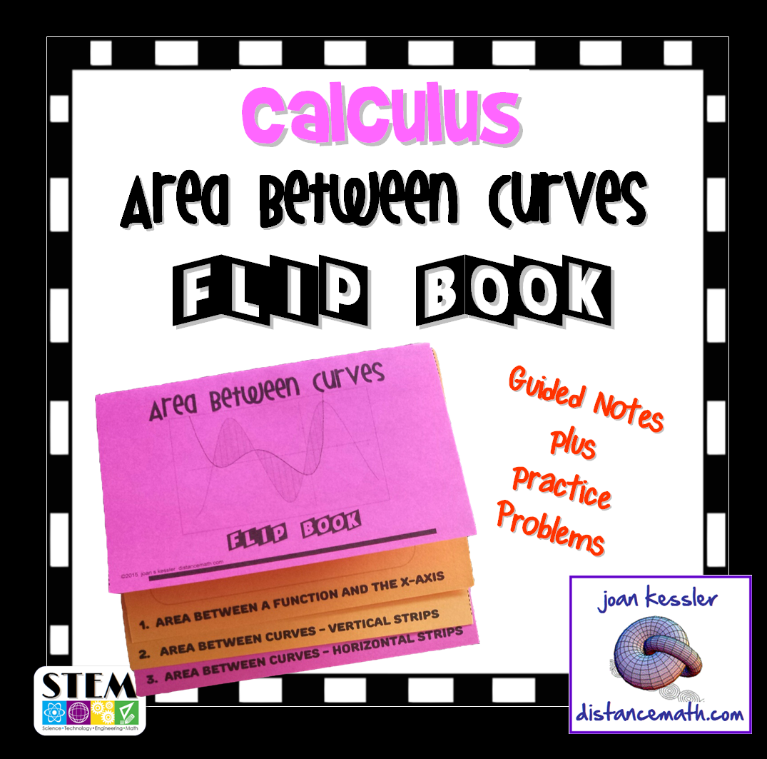 Calculus Area Under And Between Curves Flip Book