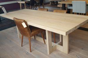 Gerookt Eiken Tafel : Eiken tafel brighton is een echte design tafel. door de bijzondere