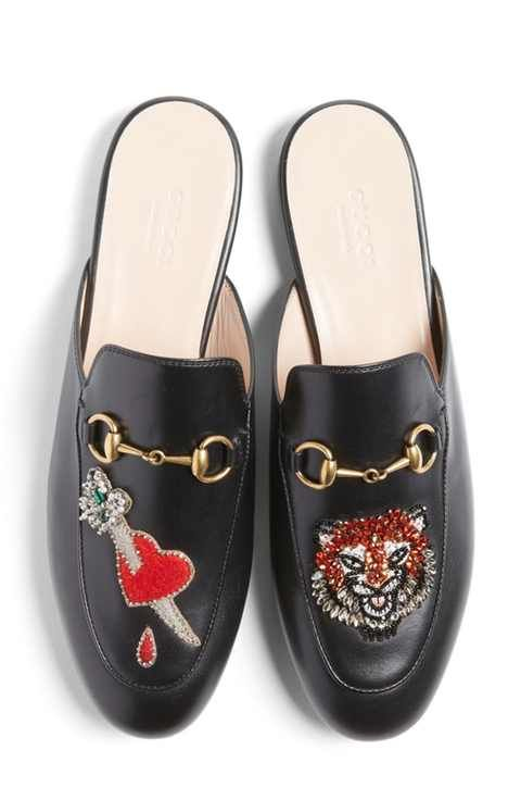 Gucci Princetown Backless Loafer (Women