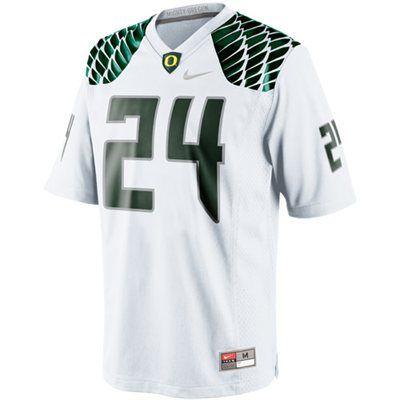 10 - Nike Oregon Ducks  24 Game Football Jersey - White 8b97288e6