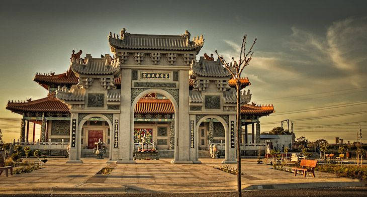 The entrance to the Melbourne Buddhist Temple, Footscray ...