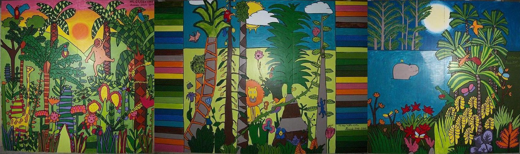 Fresque Murale Le Jardin Tropical Fresque Murale Fresque Les