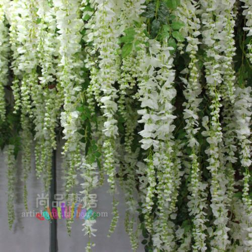 2x artificial silk wisteria flower vine hanging garland wedding 2x artificial silk wisteria flower vine hanging garland wedding plant home decor ebay mightylinksfo Choice Image