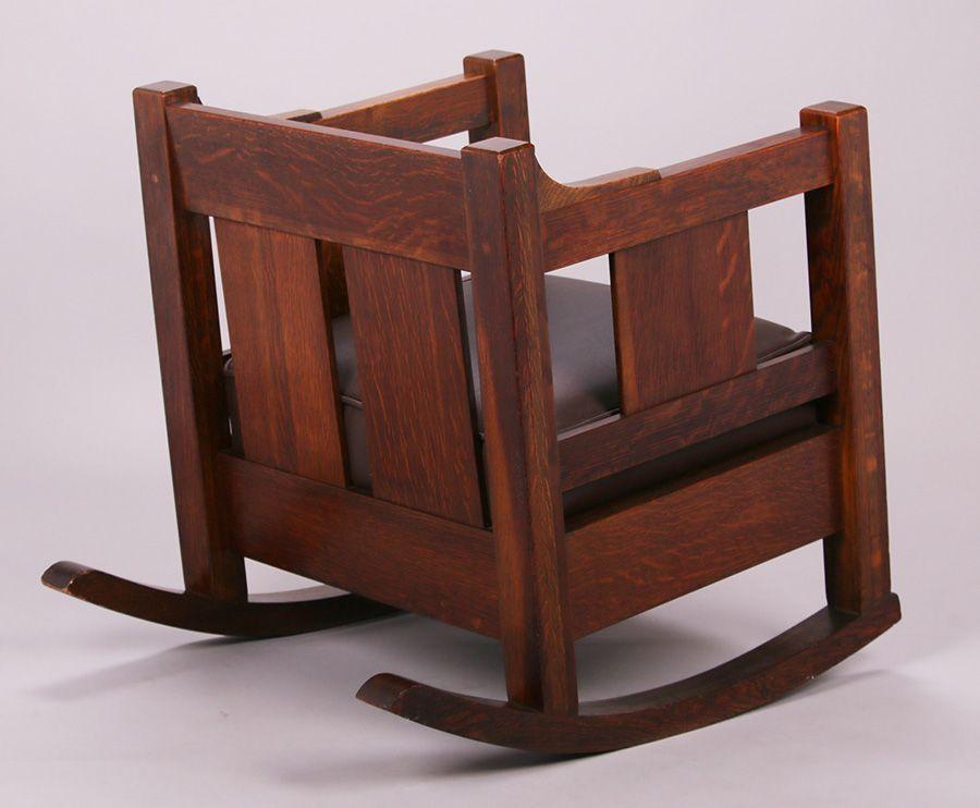 Massive Lifetime Furniture Co Cube Rocker C1910 Mission Style Furniture Arts And Crafts Furniture Craftsman Furniture