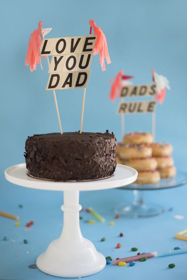 Father S Day Cake Toppers Diy Oh Happy Day With Images Diy