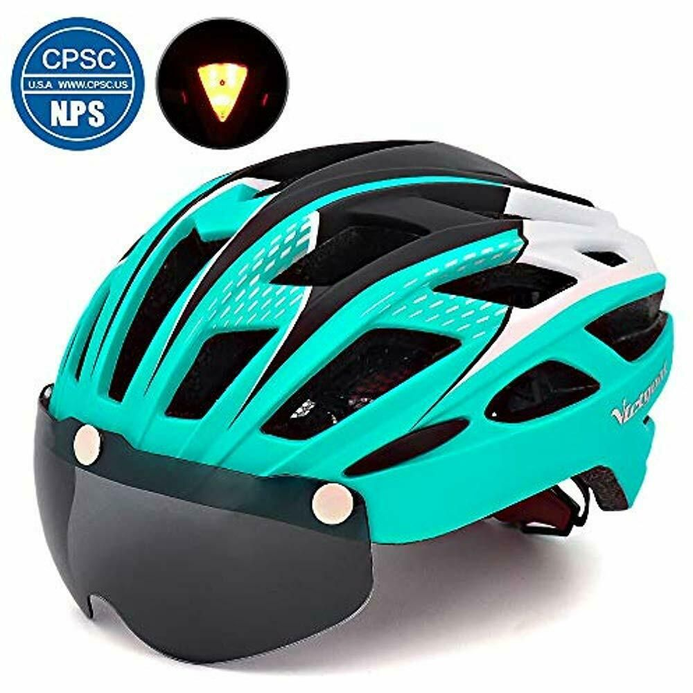 Bike Helmet For Men Women With Safety Led Back Light Detachable Magnetic  Goggles - Bicycle Helmets - Idea… | Mountain bike helmets, Cycling helmet,  Bicycle helmets