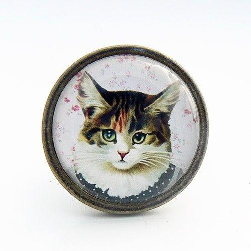 Bouton de meuble chat en robe - Cat Dress
