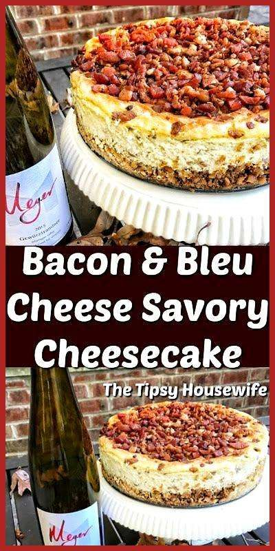 Bacon and Bleu Cheese Savory Cheesecake. A great recipe for an elegant holiday a… appetierz glute
