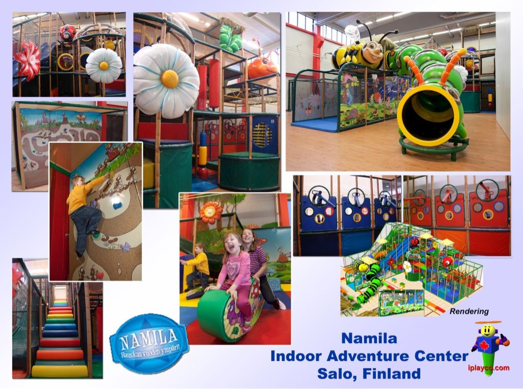 Themed family entertainment center by Iplayco-indoor-themed-playground-equipment by International Play Company, www.iplayco.com via Slideshare  www.iplayco.com