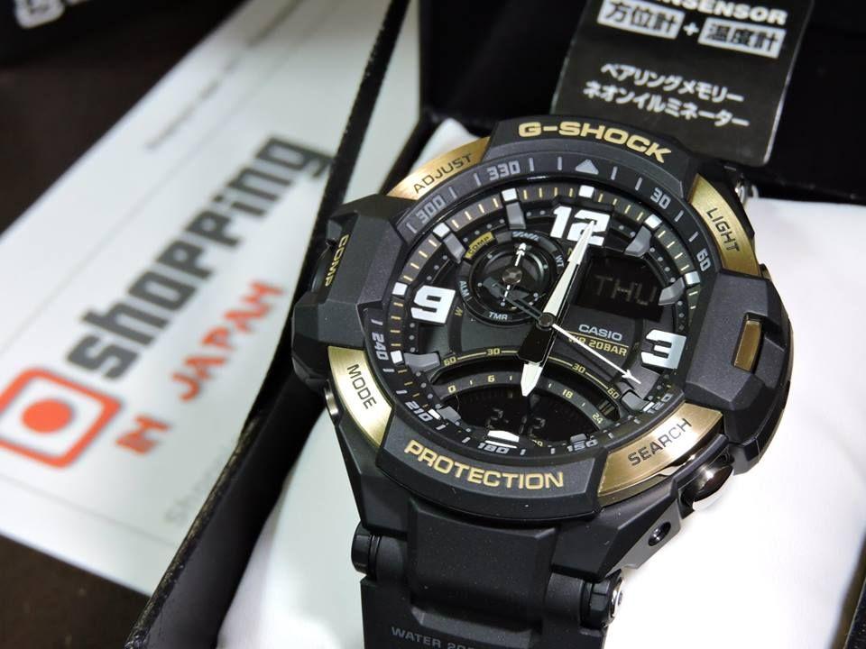 c085353886d1 GA-1000-9G G-SHOCK Aviation Black and Gold – Live Casio Photos