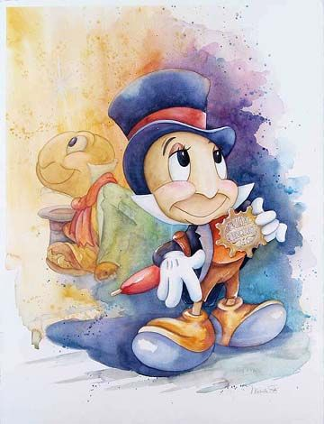 Jiminy Cricket Disney Fine Art Disney Art Disney Drawings