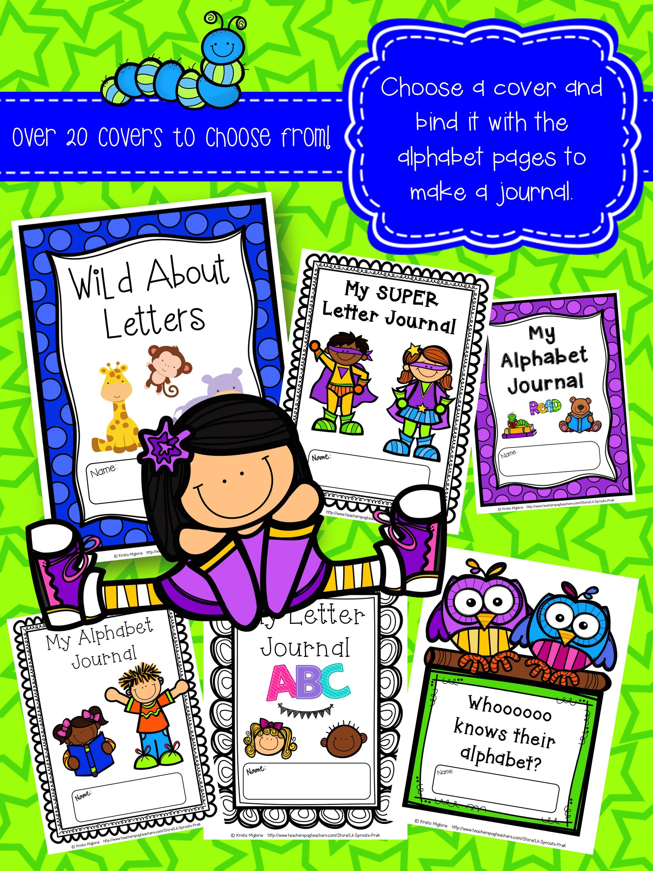 Alphabet Letter Journal A Z No Prep Worksheets Pre K