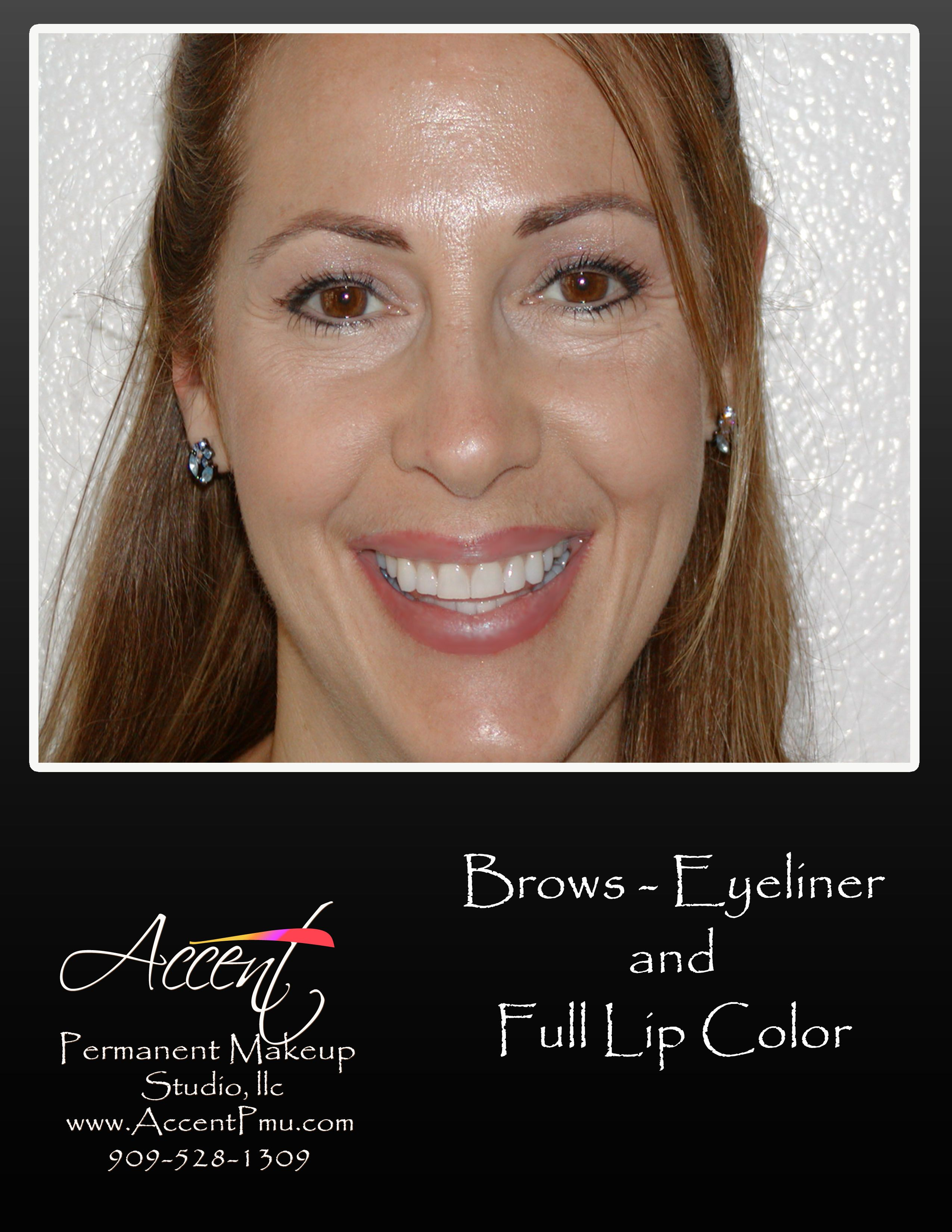 Full Lips Liner And Brows Accent Permanent Makeup By Dawn Full