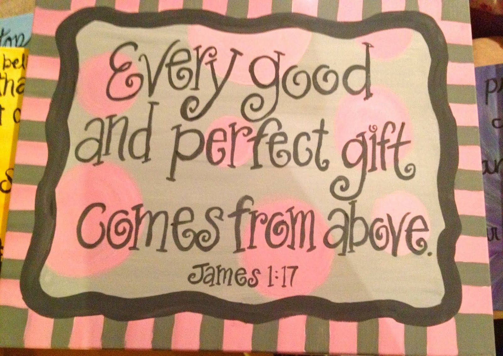 Bible Verse Painting, Scripture Painting, Nursery Painting, Bible Verse  Nursery, Baby Girl