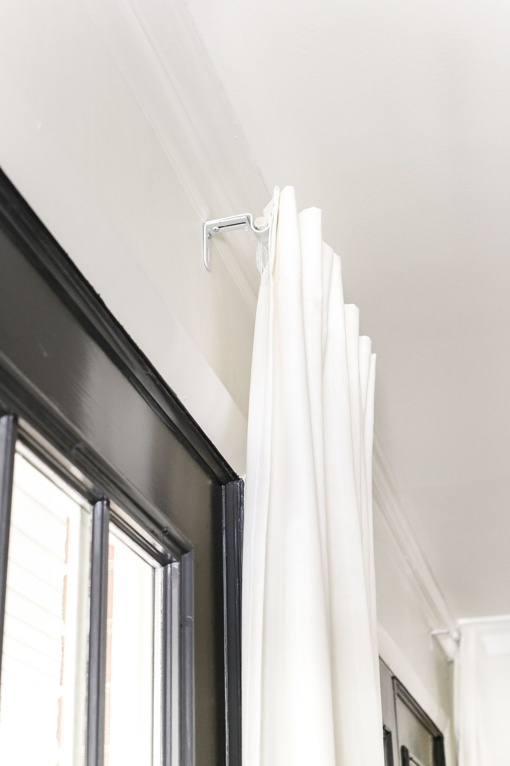 How To Fake A Long Curtain Rod Long Curtain Rods Hanging