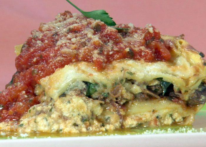 Lasagna recipe from Bobby Flay via Food Network