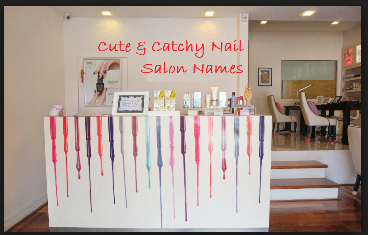 Most Clever Nail Salon Names  Nail salon decor, Home nail salon