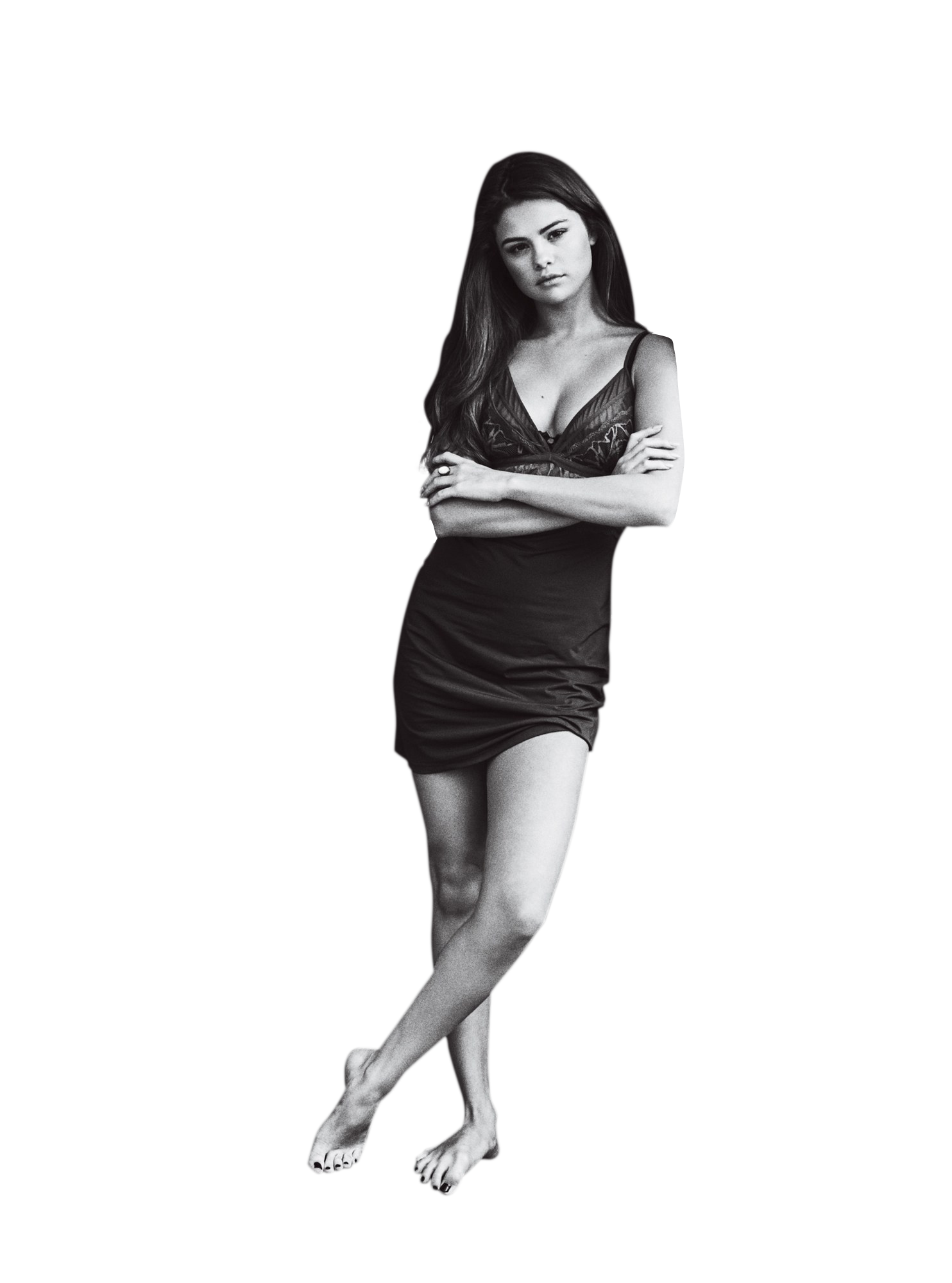 Selena Gomez Black and White PNG Image Selena gomez