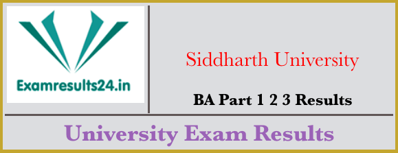 Siddharth University BA Result 2019 Part 1st 2nd 3rd Year