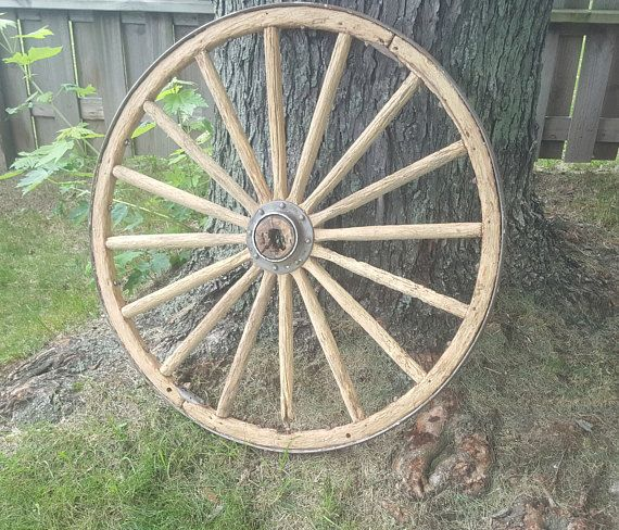 Wagon Wheel Wall Decor old wood wagon wheel, prairie country western rustic decor