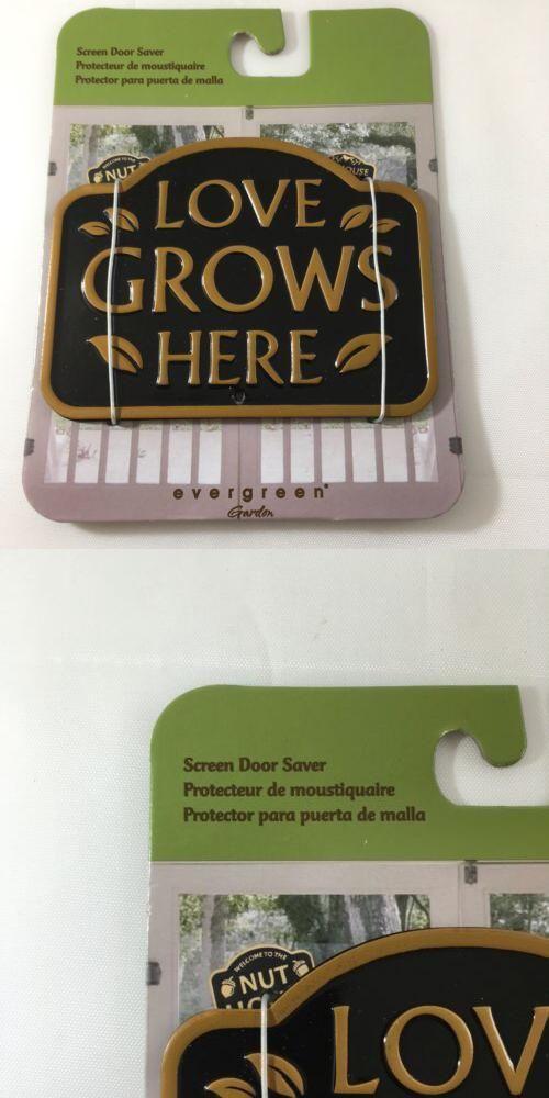 NEW Evergreen Garden Magnetic Plaque Love Grows  Screen Saver Doors /& Windows