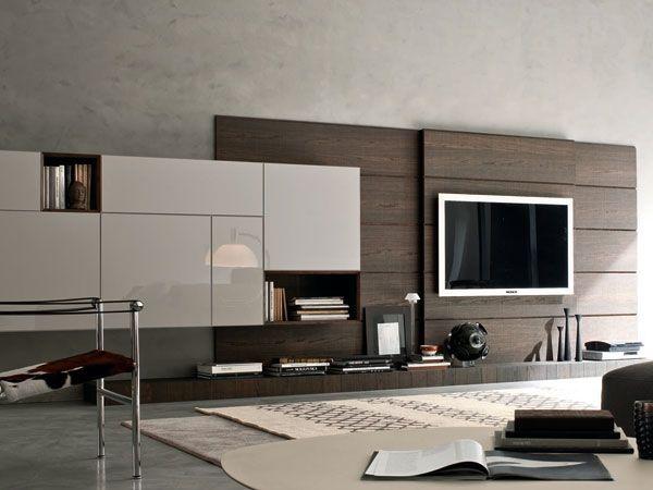 Pareti attrezzate modern decor in 2019 tv wall decor for Pareti attrezzate salotto