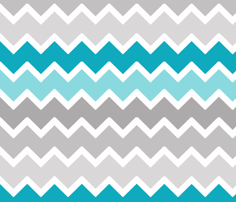 Turquoise aqua teal blue grey gray ombre chevron wallpaper for Blue chevron wallpaper