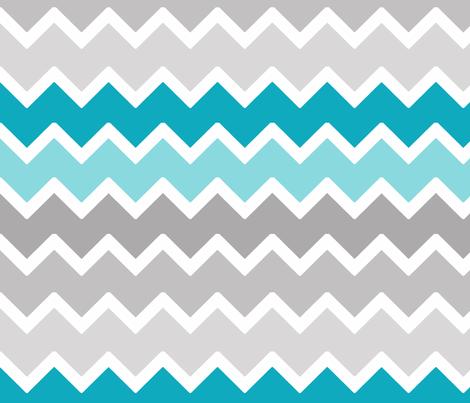 Turquoise Aqua Teal Blue Grey Gray Ombre Chevron Wallpaper