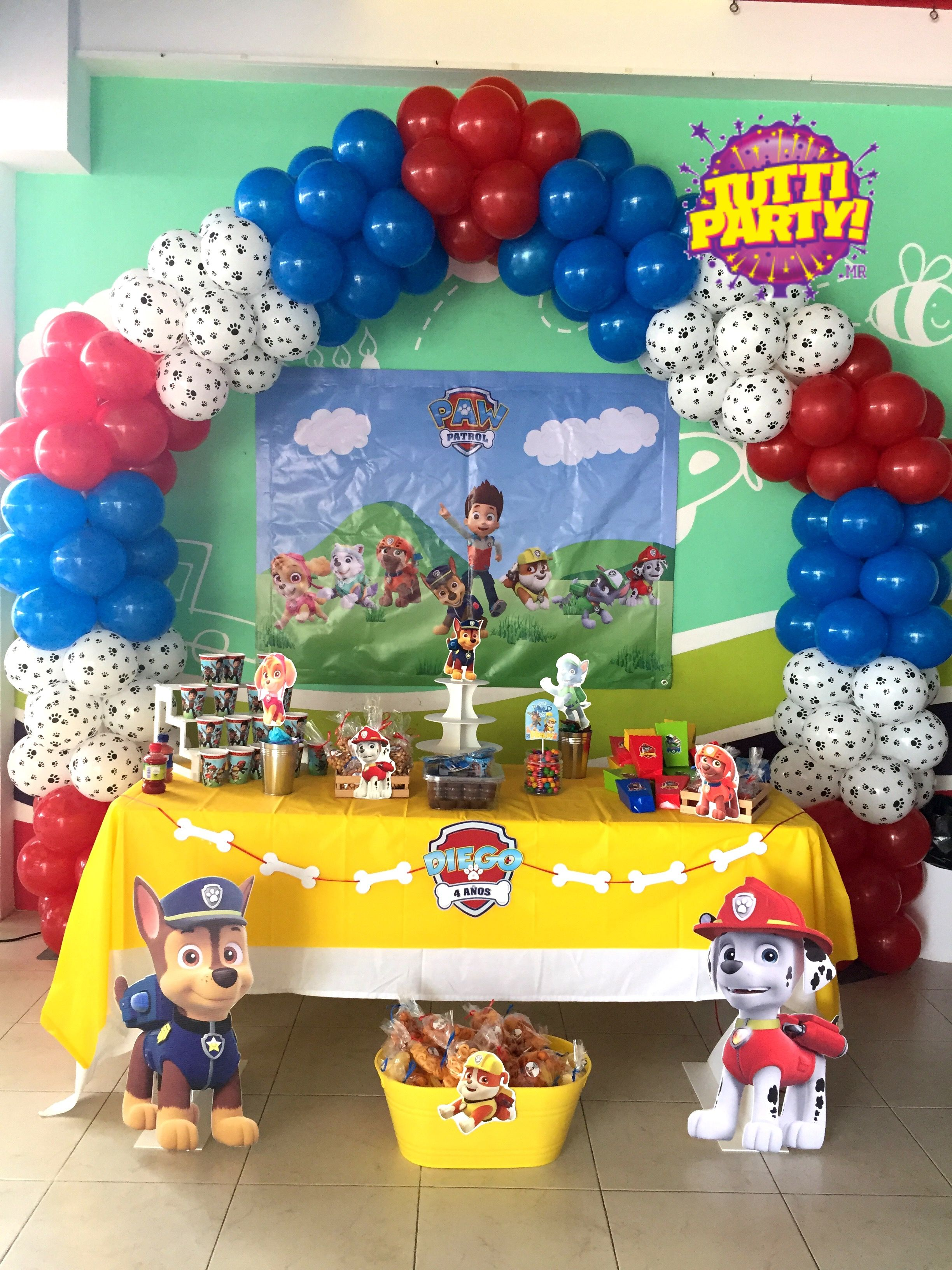 Paw patrol arch balloons decorations, paw patrol Party decorations ...