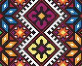 Ukrainische ethnische nahtlose Verzierung, #58, Vektor — Stockvektor