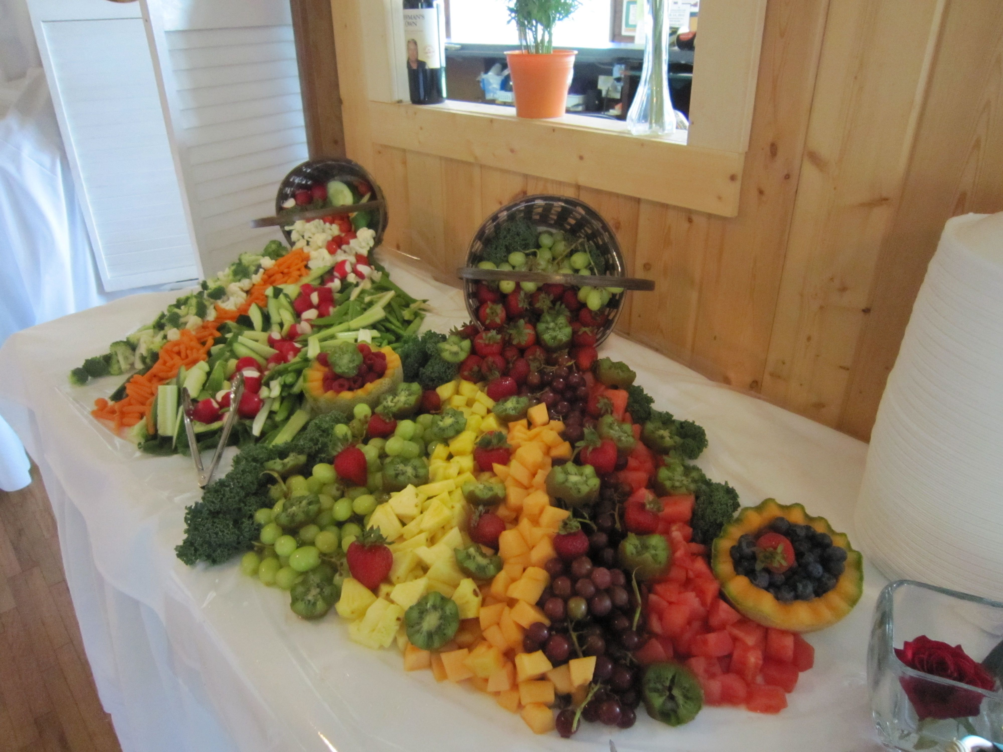 Waterfall Fruit And Veggie Displays